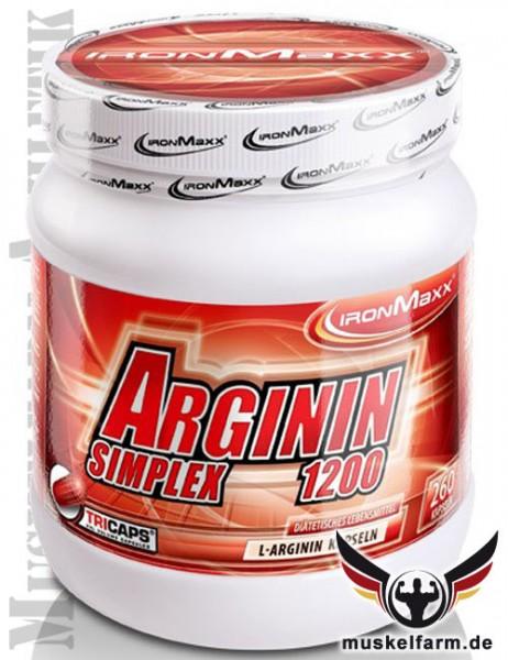 IronMaxx Arginin Simplex 1200 Tricaps