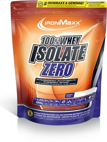 Ironmaxx 100% Whey Isolate Zero